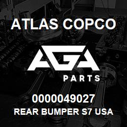 0000049027 Atlas Copco REAR BUMPER S7 USA | AGA Parts