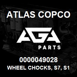0000049028 Atlas Copco WHEEL CHOCKS, S7, S1, S1.5 USA | AGA Parts