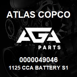 0000049046 Atlas Copco 1125 CCA BATTERY S1 S7   AGA Parts