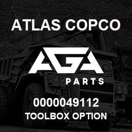0000049112 Atlas Copco TOOLBOX OPTION | AGA Parts