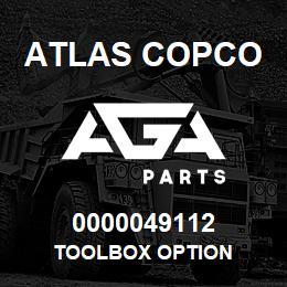 0000049112 Atlas Copco TOOLBOX OPTION   AGA Parts