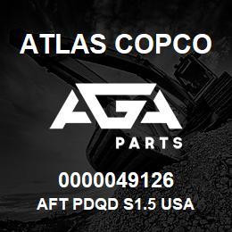 0000049126 Atlas Copco AFT PDQD S1.5 USA | AGA Parts