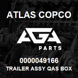 0000049166 Atlas Copco TRAILER ASSY QAS BOX A EB | AGA Parts