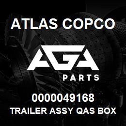 0000049168 Atlas Copco TRAILER ASSY QAS BOX C EB | AGA Parts