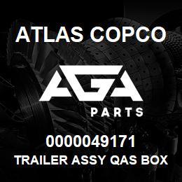 0000049171 Atlas Copco TRAILER ASSY QAS BOX 5 EB | AGA Parts