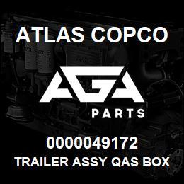 0000049172 Atlas Copco TRAILER ASSY QAS BOX 6 EB | AGA Parts