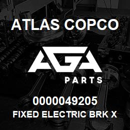 0000049205 Atlas Copco FIXED ELECTRIC BRK XAS S2 LP | AGA Parts