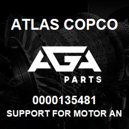 0000135481 Atlas Copco SUPPORT FOR MOTOR AND PUMP | AGA Parts