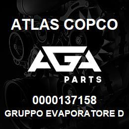 0000137158 Atlas Copco GRUPPO EVAPORATORE D1-D2 | AGA Parts
