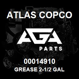 00014910 Atlas Copco GREASE 2-1/2 GAL | AGA Parts