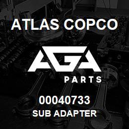 00040733 Atlas Copco SUB ADAPTER | AGA Parts