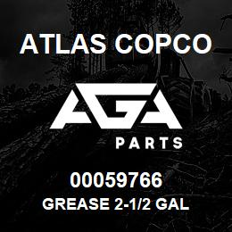00059766 Atlas Copco GREASE 2-1/2 GAL | AGA Parts