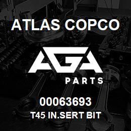 00063693 Atlas Copco T45 IN.SERT BIT | AGA Parts