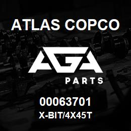 00063701 Atlas Copco X-BIT/4X45T | AGA Parts
