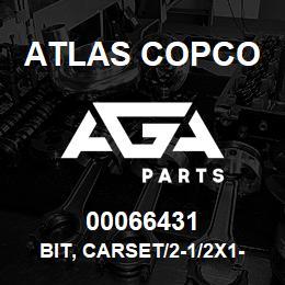 00066431 Atlas Copco BIT, CARSET/2-1/2X1-1/4RT | AGA Parts