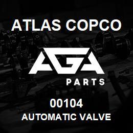 00104 Atlas Copco AUTOMATIC VALVE | AGA Parts