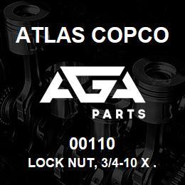 00110 Atlas Copco LOCK NUT, 3/4-10 X .750 | AGA Parts