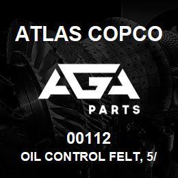 00112 Atlas Copco OIL CONTROL FELT, 5/16