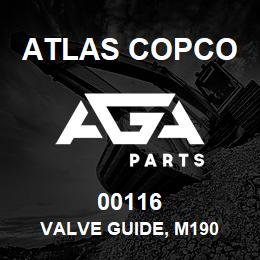 00116 Atlas Copco VALVE GUIDE, M190 | AGA Parts