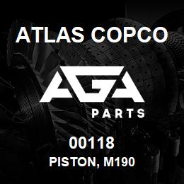 00118 Atlas Copco PISTON, M190 | AGA Parts