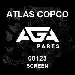 00123 Atlas Copco SCREEN | AGA Parts