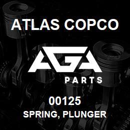 00125 Atlas Copco SPRING, PLUNGER | AGA Parts