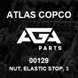 00129 Atlas Copco NUT, ELASTIC STOP, 3/4-16 | AGA Parts