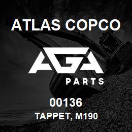 00136 Atlas Copco TAPPET, M190 | AGA Parts