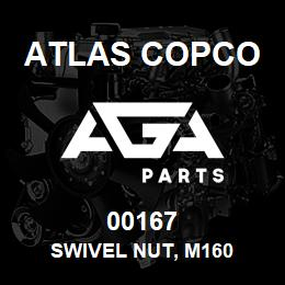 00167 Atlas Copco SWIVEL NUT, M160 | AGA Parts
