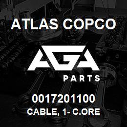 0017201100 Atlas Copco CABLE, 1- C.ORE | AGA Parts