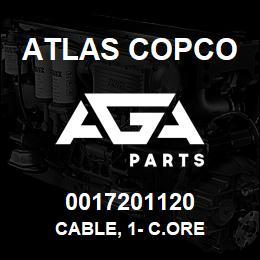 0017201120 Atlas Copco CABLE, 1- C.ORE | AGA Parts