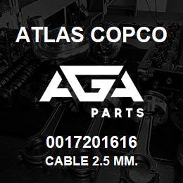 0017201616 Atlas Copco CABLE 2.5 MM. | AGA Parts