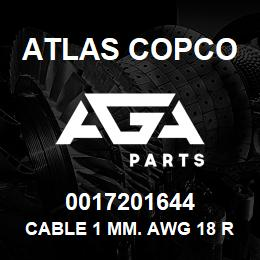 0017201644 Atlas Copco CABLE 1 MM. AWG 18 RED | AGA Parts
