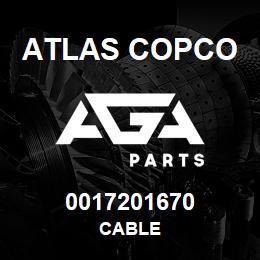 0017201670 Atlas Copco CABLE | AGA Parts