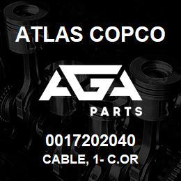 0017202040 Atlas Copco CABLE, 1- C.OR | AGA Parts