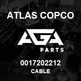 0017202212 Atlas Copco CABLE | AGA Parts