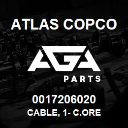 0017206020 Atlas Copco CABLE, 1- C.ORE | AGA Parts