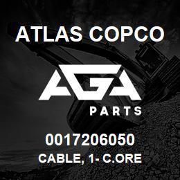 0017206050 Atlas Copco CABLE, 1- C.ORE   AGA Parts