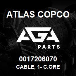 0017206070 Atlas Copco CABLE, 1- C.ORE | AGA Parts
