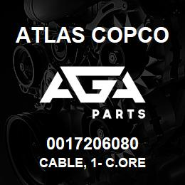 0017206080 Atlas Copco CABLE, 1- C.ORE | AGA Parts
