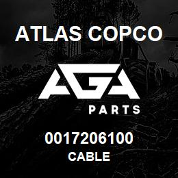 0017206100 Atlas Copco CABLE | AGA Parts