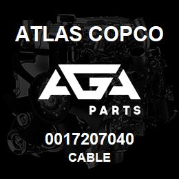 0017207040 Atlas Copco CABLE | AGA Parts
