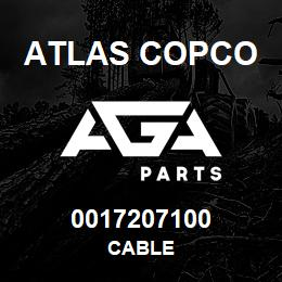 0017207100 Atlas Copco CABLE | AGA Parts