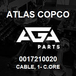 0017210020 Atlas Copco CABLE, 1- C.ORE | AGA Parts