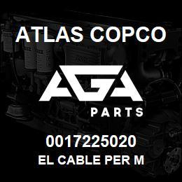 0017225020 Atlas Copco EL CABLE PER M   AGA Parts