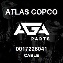 0017226041 Atlas Copco CABLE | AGA Parts