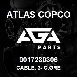0017230306 Atlas Copco CABLE, 3- C.ORE | AGA Parts
