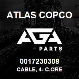 0017230308 Atlas Copco CABLE, 4- C.ORE | AGA Parts