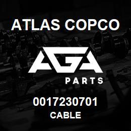 0017230701 Atlas Copco CABLE | AGA Parts