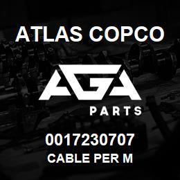0017230707 Atlas Copco CABLE PER M | AGA Parts
